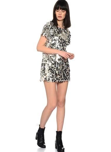 Motel Rocks Mini Abiye Elbise Gümüş